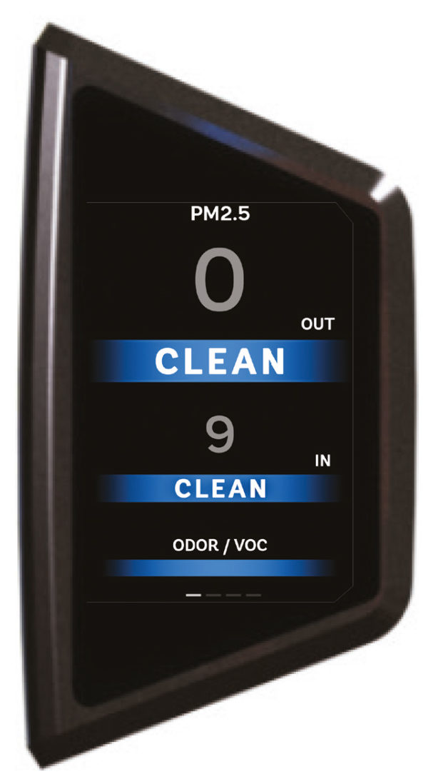 Ecran qualité de l'air purificateur d'air