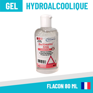 Gel Hydroalcoolique Flacon 80ml