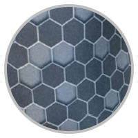 Masque Adulte Gris nano geometrique